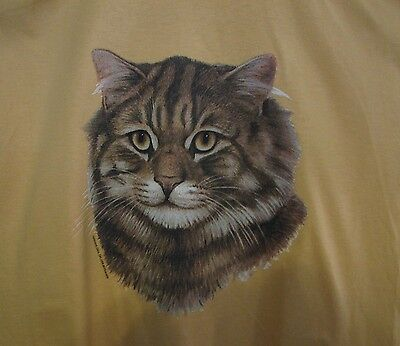 Brown Tabby Cat  Ash,Daisy, Sand  or Pink   Crew Sweat Shirt .NEW! Your Size!