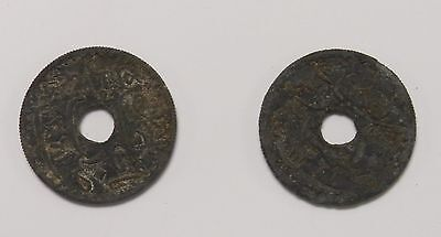 1942 ...tunisie.....10 Centimes...lot Of 2 Coins...nice Coins...free Shipping!!!