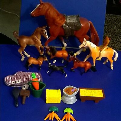 17-Piece Breyer Model Horses and Accessories
