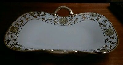 Nippon Antique Hand Painted Bone China Serving Dish