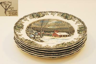 6 Johnson Brothers The Friendly Village School House Dinner Plate Plates