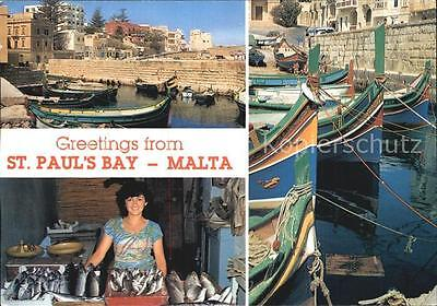72457308 St Pauls Bay Fishing village Fish vendor Malta