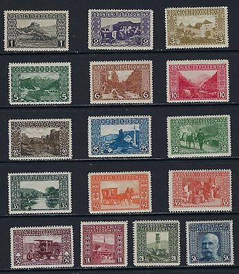 1906 Bosnia & Herzegovina Scott 30-45 full set MLH--fresh