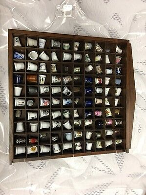 Mixed Thimble Collection with Wooden Display. 100 Pcs
