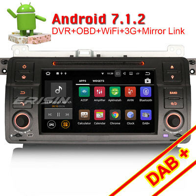 DAB+Android 7.1 Car Stereo GPS CANBUS Wifi Sat Nav BMW E46 3er M3 Rover75 MG ZT