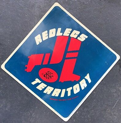 NORWOOD FOOTBALL CLUB REDLEGS vintage 1988 Plastic Sign SANFL
