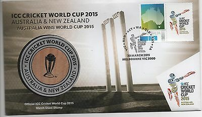 2015   I.c.c. Cricket World Cup Medallion – Pnc - Limited Edition