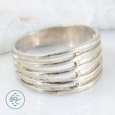 Sterling Silver | MARSALA Open Stack Band 3.2g | Ring (7.5) NB9873