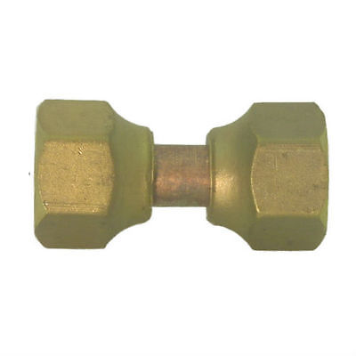 "SAE Brass 45° Flare Tube Fitting. 3/8"" x 3/8"" Flare Swivel Connection Assembly."