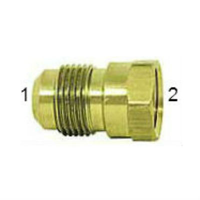 "SAE Brass 45° Flare Tube Fittings. Female Connector. 1/2"" Tube x 3/8"" Pipe."