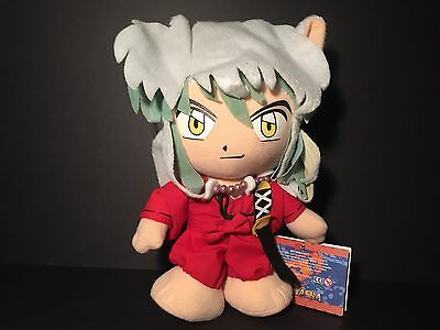 """Authentic Inuyasha 8"""" Stuffed Plush Toy w/ Suction Cup Strap GE-6010"""