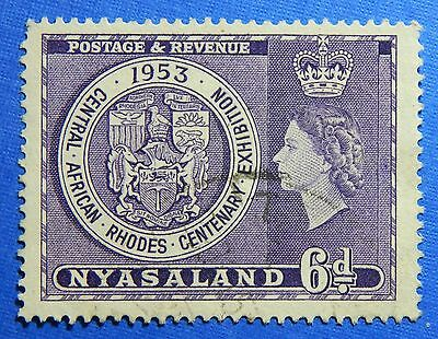 1953 NYASALAND 6d SCOTT# 95 S.G.# 171 USED                               CS20980