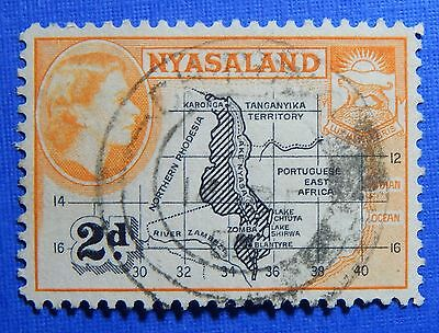 1953 NYASALAND 2d SCOTT# 100 S.G.# 176 USED                              CS20986