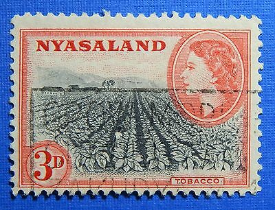 1953 NYASALAND 3d SCOTT# 102 S.G.# 178 USED                              CS20990