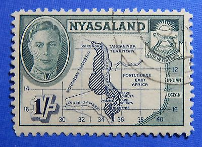 1945 Nyasaland 1S Scott# 76 S.g.# 152 Used                               Cs20968