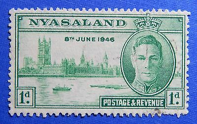 1946 NYASALAND 1d SCOTT# 82 S.G.# 158 USED                               CS20972