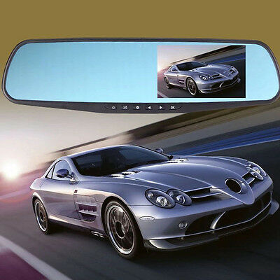 "1080P Full HD 4.3"" Video Recorder Dash Cam Rearview Mirror Car Camera DVR"