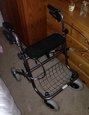 Mobility DIsabled Aid Walking Frame 4 Wheeled walker with seat and Metal tray