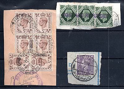 GB KGVI used abroad, Field Post Office etc on pieces WS5103