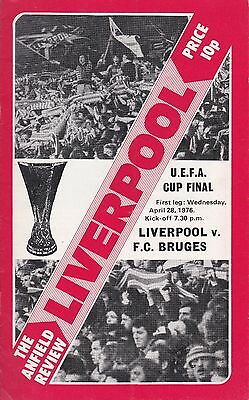 LIVERPOOL v FC BRUGES ~ UEFA CUP  FINAL ~28 APRIL 1976