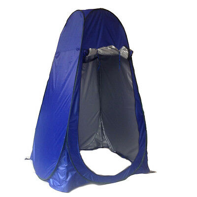 Portable blue Pop Up Tent Camping Beach Toilet Shower Changing Room w/ Window