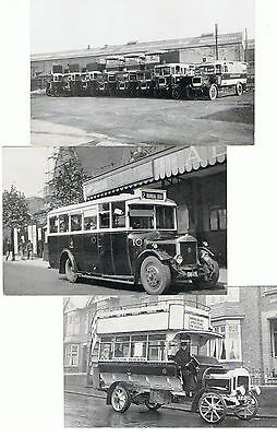 3 Unused Coventry Transport Dept Repro P/Cs Buses in Coventry