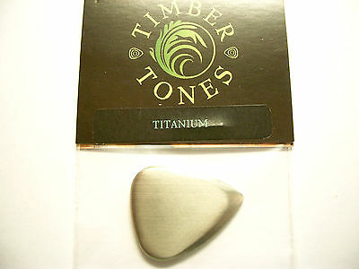 Timber Tones Metal Tones Mini Pick Metall Plektron Titanium
