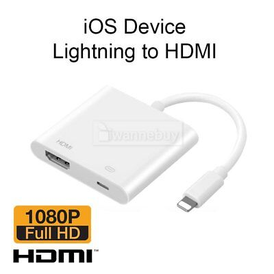 Lightning To HDMI Digital AV TV Cable Adapter For Apple iPad iPhone X 6 6s 7 8