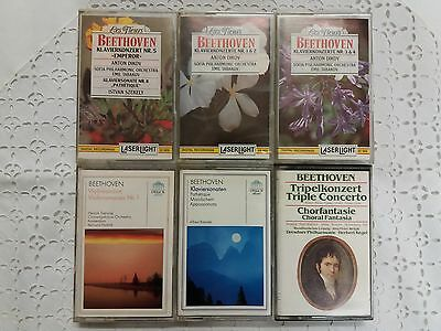 6 MC s Klassik Beethoven Lot of 6 Classical Cassettes Laserlight, Philips etc. @