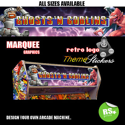 Ghosts and Goblins Arcade Marquee Artwork Stickers Graphic Laminated All Sizes