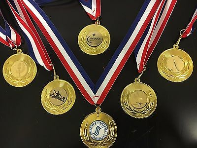 Sports / Achievement Medals on a ribbon , Any Sport ,From as little as 85p each