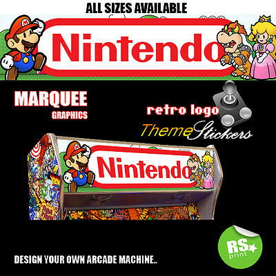 NintendoV2  Arcade Artywork Marquee Stickers Graphic / Laminated All Sizes