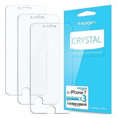 3-Pack iPhone 7 Screen Protector, Spigen® Anti-Scratch Ultra Clear Protection