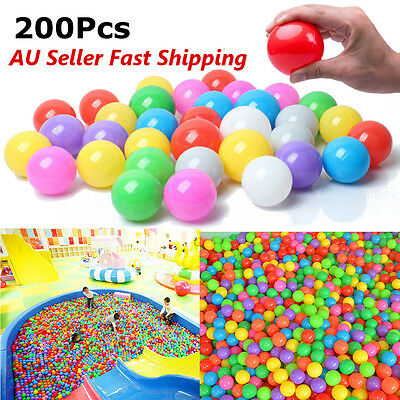 200Pcs 40mm Colorful Fun Ball Soft Plastic Ocean Ball Baby Kid Toy Swim Pit Toy