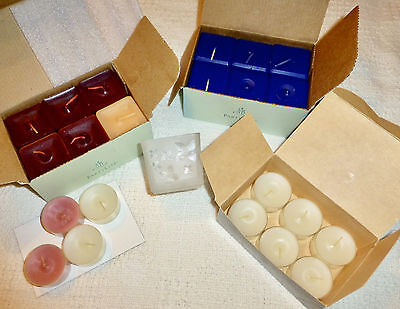 Partylite Candles Lot Scent Plus  Square Votive Candles And Candle Holder