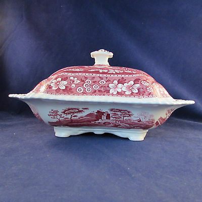 Spode China PINK TOWER Covered Serving Bowl