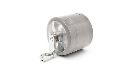"Silver Herb Grinder w/ Handle Spice Crusher for Tobacco Hand Muller 2"" 4 Piece"