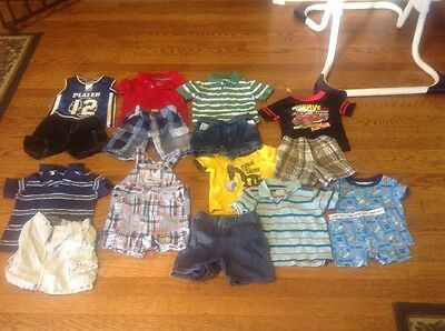 Huge Lot Of 16 Boys 12 M Months Spring & Summers Outfits Clothes  Carters & More