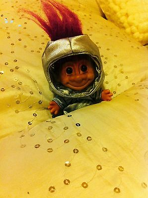 Well loved Russ Troll Astronaut vintage 4.5 inch doll