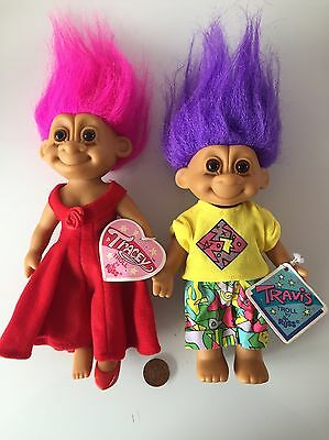 Rare Russ Vintage Trolls Travis And Tracey With Tags