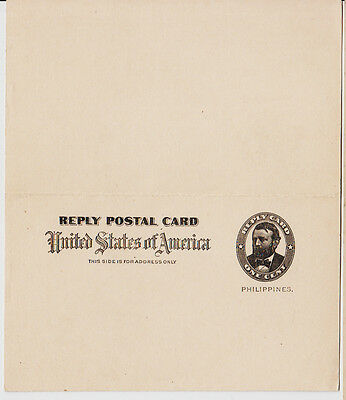 Philippines Postkarte/Stationery with paid reply, unused (04711)