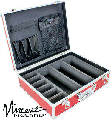 Vincent Master Case Travel Stylist Barber Case Small VT10143-RD  red