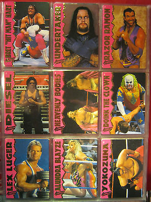 WWF WWE Action Packed 3D Trading Card Set aus 1995