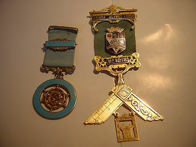 Amazing Solid 9Ct Gold Masonic Medal & 1868 Silver Medal-Prince Alfred Lodge