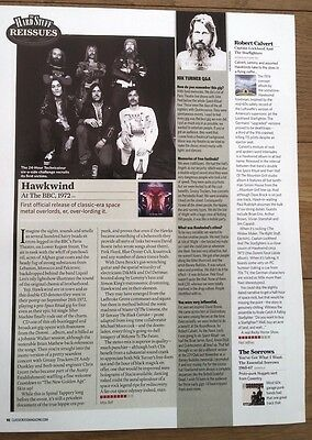 HAWKWIND / CALVERT albums reviewed UK ARTICLE / clipping