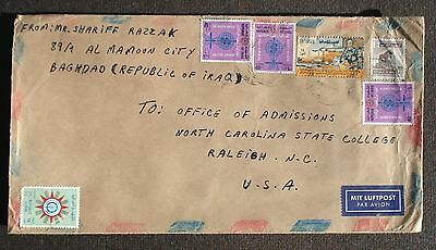 IRAQ # POSTAL COVER to US 1958