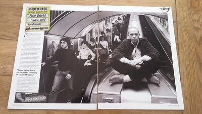 PETER GABRIEL 'escalator' 2 page  UK PHOTO / ARTICLE / clipping