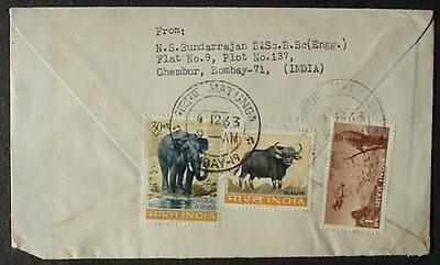INDIA # POSTAL COVER to US 1963