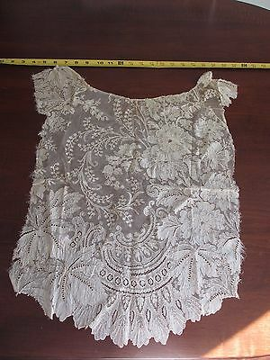 Antique 18th C  French Lace Shirt Panel Dora Dwelley Estate