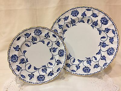 "Spode Bone China Set -""Colonel Blue"" Lunch/Salad Plate & Bread/Butter Plate"